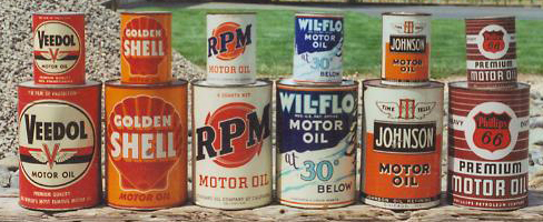 5 Quart & 1 Quart Motor Oil Cans