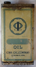 Tall Rectangle Old 1 Gallon Motor Oil Can