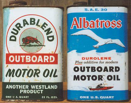 Square Motor Oil Outboard Quart Cans